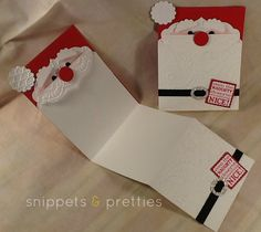 Stampin' Up! Santa Punch Art by Snippets and Pretties: Santa Beard Card