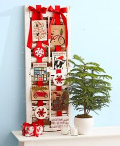 Turn Christmas cards into merry displays using these clever ideas.