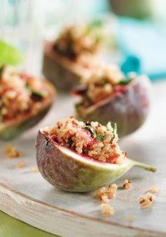 Mint and quinoa stuffed figs