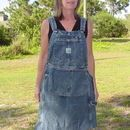 Up-Cycle Shop/Gardening/Craft Apron From Bib Overalls (no sew directions at end)