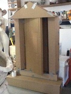 Cardboard boxes on pinterest cardboard boxes cardboard for Cardboard halloween decorations diy