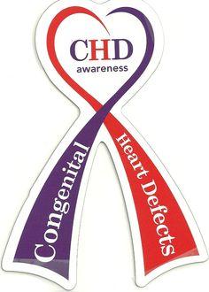 CHD Awareness Car Magnet