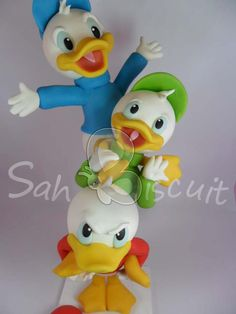 """"""" donald duck, polym clay, polymer clay, cake toppers"""