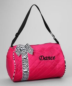 Take a look at this Fuchsia Bow 'Dance' Duffel Bag by Seesaws & Slides on #zulily today!