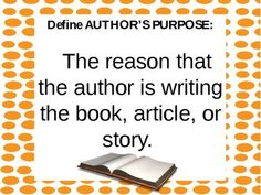 {FREE} Author's Purpose Power Point {PIE ED!}