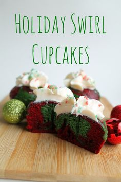 Holiday Swirl Cupcakes | How to be awesome on $20 a day
