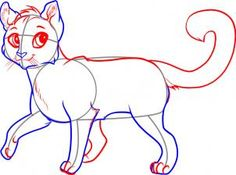How to draw a cat walking