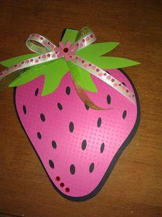 Strawberry party invitation @Charis - Bella Soiree