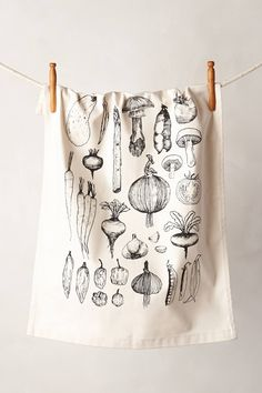 Vegetable Garden Dishtowel