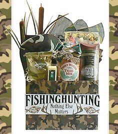 Hunting Gift Basket for Men - Hunter Basket - Hunting and Fishing Basket for Men