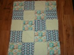 I made this quilt for my nephew.  It was super easy.