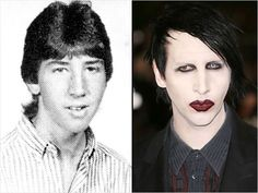 Marilyn Manson Celebrity Yearbook Photos