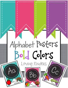 Alphabet Posters with beginning pictures and words!  Enjoy!  Just Print, Laminate and Hang!