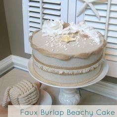 DIY burlap cake tutorial ~ aweome!