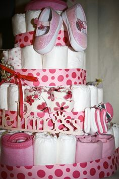 diaper cakes! @Brittany Horton McCullers