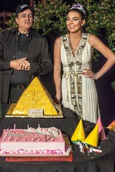 Lindsay Lohan's 26th birthday coincided with the Liz & Dick wrap party on July 2, so producer Larry Thompson combined the two for a classic Hollywood affair. Click through to see photos from the event. Liz & Dick premieres on Lifetime November 3. http://et.tv/LPG4We