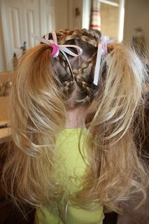 Criss cross pig tails for little girls. Going to try this on Katelyn