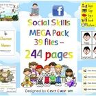 Social Skills MEGA Pack Worksheets, Programme and Posters - PDF file244 pages of social skills/behavior management resources. The best of Clever Classroom's social skills resources plus some new ones, all in one MEGA Pack! Follow our store as we have even more MEGA pack on the way!    39 files have been combined to form one large file with the following resources:
