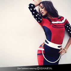 Zoe Saldana wearing Royal Filigree Hinged Bangle by Isharya