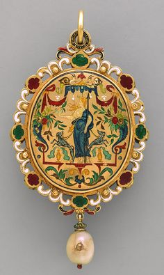 Commesso, 1550–55  Reverse after design of Étienne Delaune (French, 1518/19–1583), probably a 19th-century addition  Gold, enamel, jewels, and chalcedony  (Rear view)