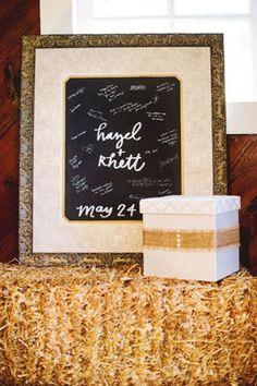 Rustic Elegance Wedding Guest Frame, large
