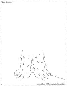 Finish the Monster! CreKid.com - Creative Drawing Printouts - Spark your child's imagination and creativity. So much more than just a coloring page. Preschool - Pre K - Kindergarten - 1st Grade - 2nd Grade - 3rd Grade. www.crekid.com