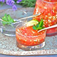 Drink your vegetables. Chilled gazpacho.