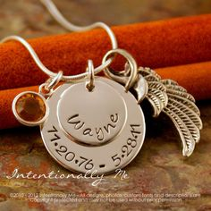 Hand Stamped Remembrance Necklace - Personalized Sterling Silver Jewelry - Forever in my heart 2nd edition (grieving loss)