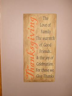 A FaLL HoLiDaY THANKSGIVING PriMiTiVe WooD SiGn by DAWNSPAINTING, $31.00