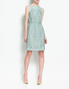 lace mint dress (Zara)