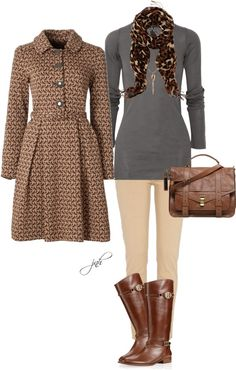 """Brown"" by jill-hammel on Polyvore"