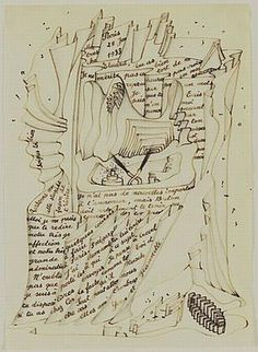 Letter to Paul Eluard by Yves Tanguy (1933)