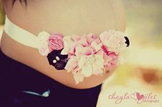 Maternity sash ITS A Girl  couture vintage by ChiqueShowoffs, $45.00