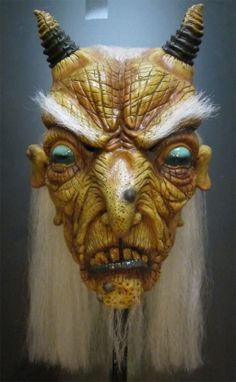 Halloween Occult Ritual Horned Goat Witch Monster Creature Mask. The ultimate tribute to the occult, The Goat Witch includes two classics of the ritual, a Witch and a Goat, making The Goat Witch one amazing Halloween Mask. $72.00 free U.S. Shipping.