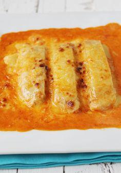 Canelones de queso y burguer de atún