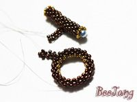 toggl clasp, bead pattern, bead clasp, patterns, pattern bijoux, seed beads, bead tutori, beaded clasp tutorial, ring toggl