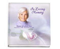 "Hardcover Guest Books : Beloved Hardcover 8x8"" Signin-Registry Memorial Guest Book"
