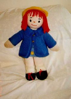 MADELINE (Look-a-like) DOLL FREE KNITTING PATTERN - DOLL