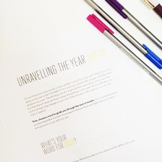 Unravelling The Year Ahead With Susannah Conway | Free Printable Workbook For 2013