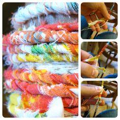Handspun Yarn Shop and Fiber Art Blog by Neauveau: How to Spin Yarn from Fabric