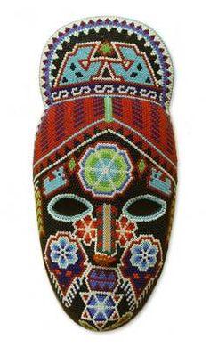 Crowned Deer Mexican Artisan Handmade Huichol Indian Beaded Mask Art | eBay