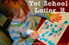 Tot School Printables Letter R is for Rainforest from Wildflower Ramblings #totschool