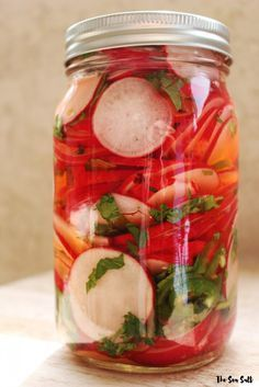 Pickled Radishes for