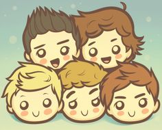 How to Draw Chibi One Direction, One Direction Boys, Step by Step, Chibis, Draw Chibi, Anime, Draw Japanese Anime, Draw Manga, FREE Online Drawing Tutorial, Added by Dawn, July 13, 2012, 7:00:07 am