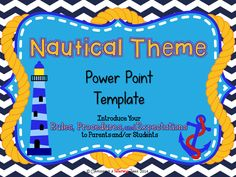 This 10 slide Nauticall Themed Back-to-School Power Point presentation is fully customizable. You can add or delete slides to fit your needs. All text is editable too!