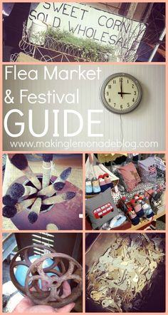 Looking for some funky junk? How to find score the best deals during flea market and festival season! {Flea Market and Outdoor Festival Directory}