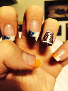 Denver Broncos Nails:)