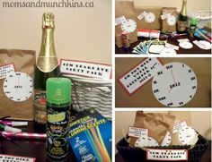 New Year's Eve Activities for Kids (Free Printables) for Countdown Bags #NewYearsEve www.momsandmunchkins.ca