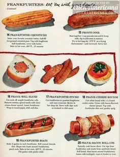 13 ways to serve hot dogs in 1955...weird