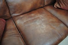How to repair your marked up leather furniture! Genius! AND cheap!